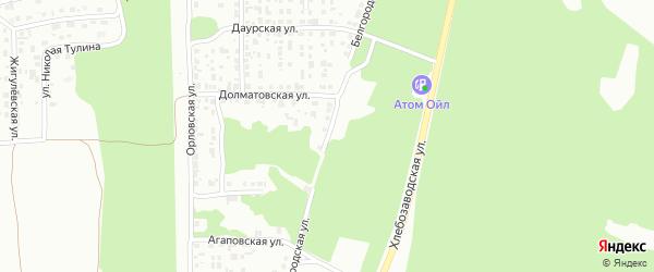Белгородская улица на карте Челябинска с номерами домов