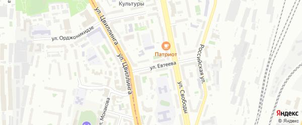Улица Борьбы на карте Челябинска с номерами домов