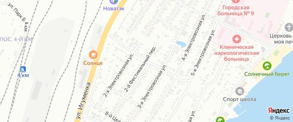 Целинный 6-й переулок на карте Челябинска с номерами домов