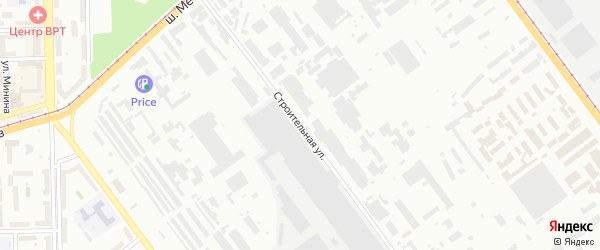 Строительная улица на карте Челябинска с номерами домов