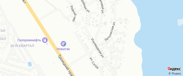 Изумрудная улица на карте Челябинска с номерами домов