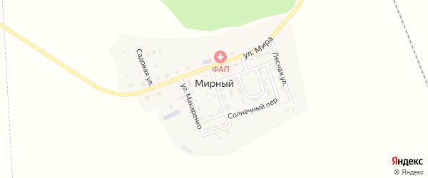 Улица Первостроителей на карте Мирного поселка с номерами домов
