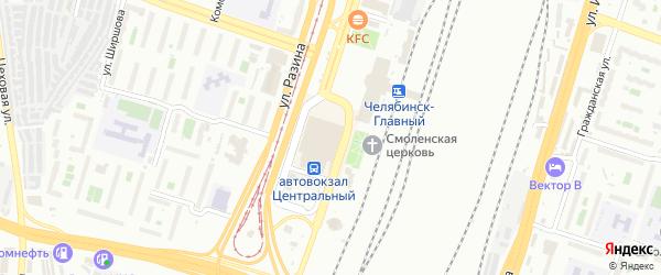 ГСК Башня по ул Привокзальная территория на карте Челябинска с номерами домов