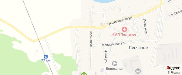 Школьная улица на карте Песчаного села с номерами домов