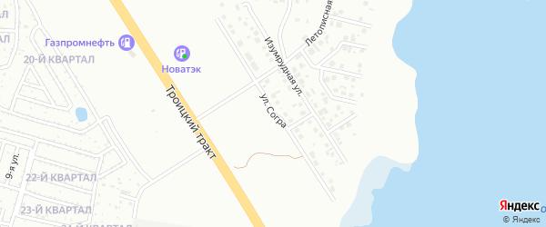 Улица Согра на карте Челябинска с номерами домов