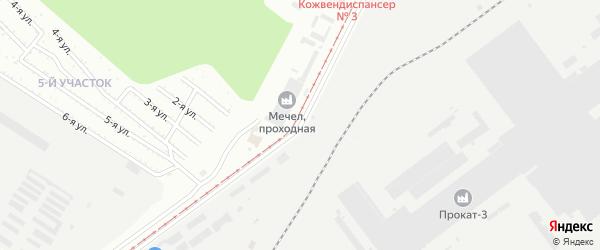 Павелецкая 2-я улица на карте Челябинска с номерами домов