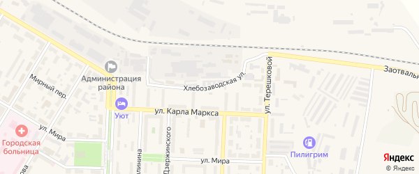 Хлебозаводская улица на карте Коркино с номерами домов