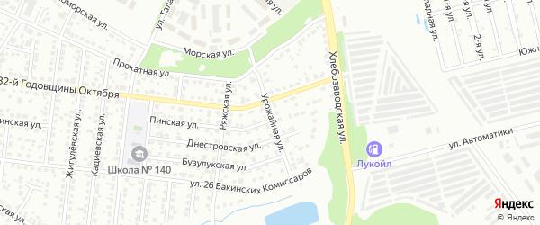 Урожайная улица на карте Челябинска с номерами домов