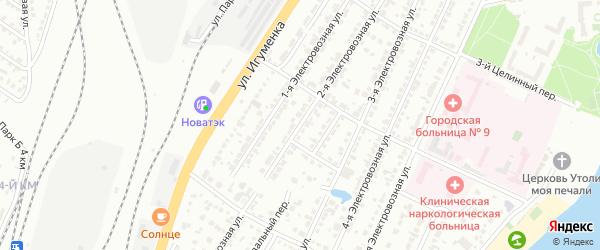 Электровозная 2-я улица на карте Челябинска с номерами домов