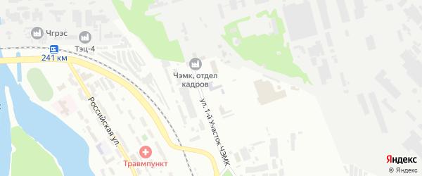 Территория Участок 1 ЧЭМК на карте Челябинска с номерами домов