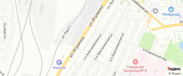 Улица Артема на карте Челябинска с номерами домов
