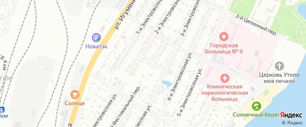 Целинный 5-й переулок на карте Челябинска с номерами домов
