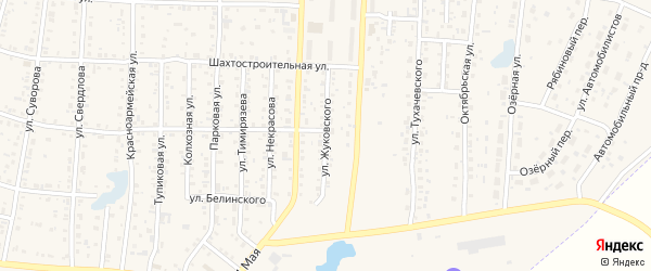 Улица Жуковского на карте Коркино с номерами домов