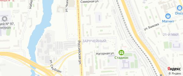 Улица Лобкова на карте Челябинска с номерами домов