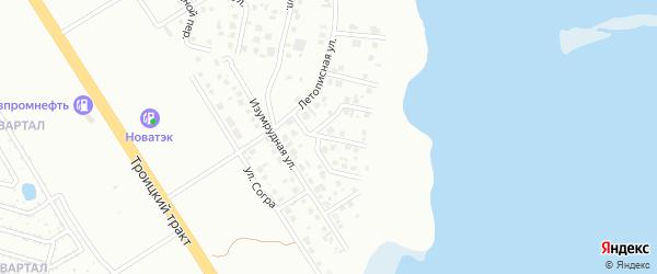 Ласковый переулок на карте Челябинска с номерами домов