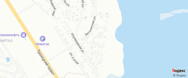 Каштановая улица на карте Челябинска с номерами домов