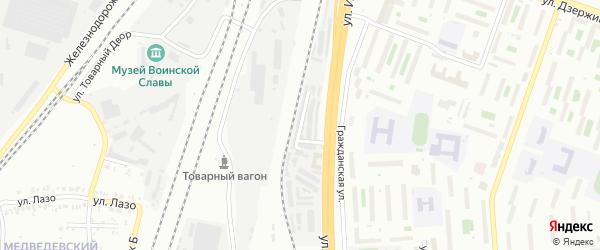 Стекольная улица на карте Челябинска с номерами домов