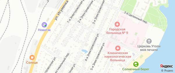 Электровозная 3-я улица на карте Челябинска с номерами домов