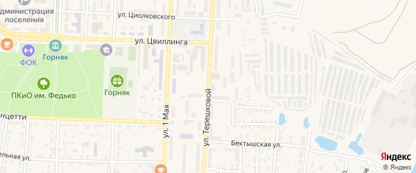 Улица В.Терешковой на карте Коркино с номерами домов