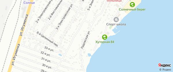 Ладожская улица на карте Челябинска с номерами домов