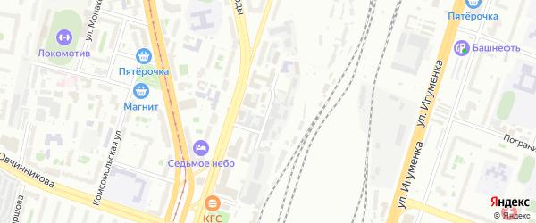 Привокзальная улица на карте Челябинска с номерами домов