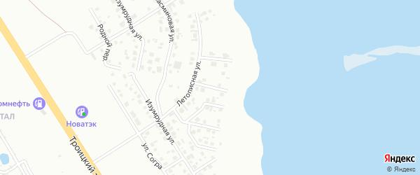 Вологодская улица на карте Челябинска с номерами домов