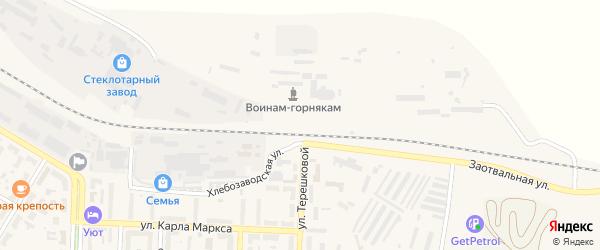 Смешанная улица на карте Коркино с номерами домов