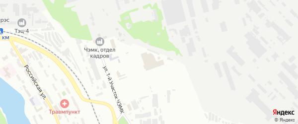 ГСК Энергетик участок 5 по ул Российская территория на карте Челябинска с номерами домов