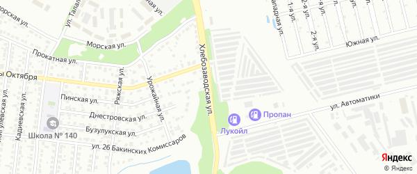 Хлебозаводская улица на карте Челябинска с номерами домов