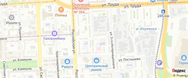 Улица Могильникова на карте Челябинска с номерами домов