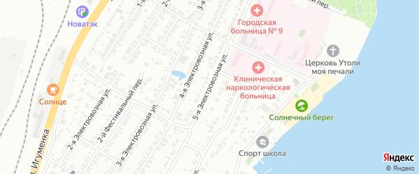 Электровозная 5-я улица на карте Челябинска с номерами домов