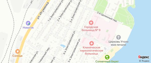 Целинный 4-й переулок на карте Челябинска с номерами домов