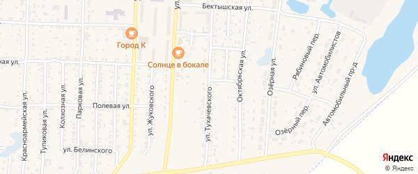 Улица Тухачевского на карте Коркино с номерами домов