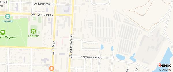 Автобазный переулок на карте Коркино с номерами домов