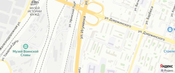 Гражданская улица на карте Челябинска с номерами домов