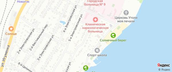 Ладожский переулок на карте Челябинска с номерами домов