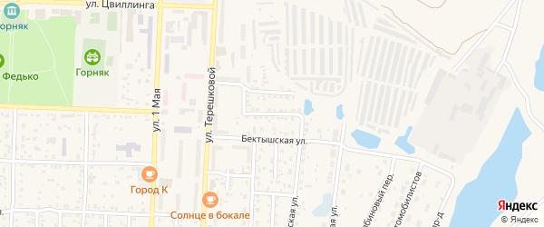 Гаражный переулок на карте Коркино с номерами домов