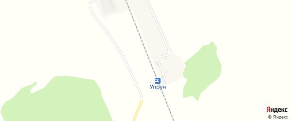 Лесная улица на карте станции Упруна с номерами домов