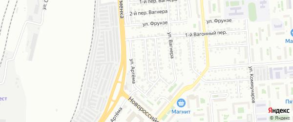 Синеглазовский 2-й переулок на карте Челябинска с номерами домов