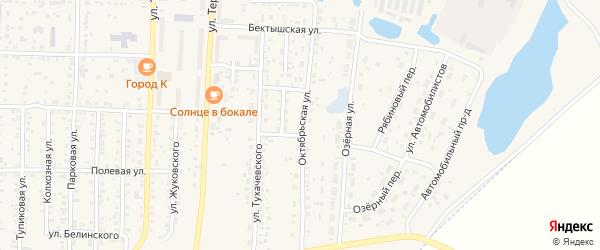 Октябрьская улица на карте Коркино с номерами домов