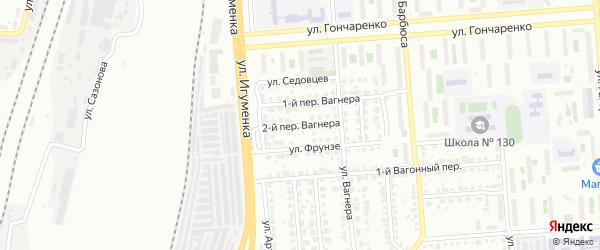 Вагнера 2-й переулок на карте Челябинска с номерами домов