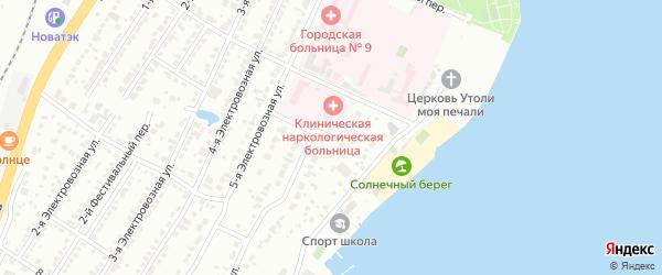 Украинская улица на карте Челябинска с номерами домов