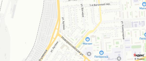 Сигнальный переулок на карте Челябинска с номерами домов