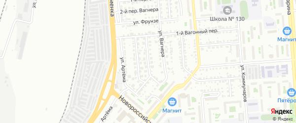 Синеглазовский 1-й переулок на карте Челябинска с номерами домов