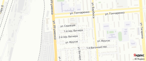 Переулок Вагнера с кв на карте Челябинска с номерами домов