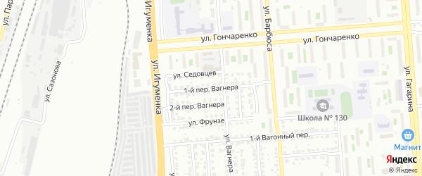 Вагнера 1-й переулок на карте Челябинска с номерами домов