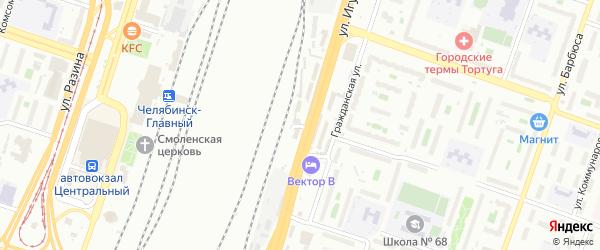 Сортировочная улица на карте Челябинска с номерами домов