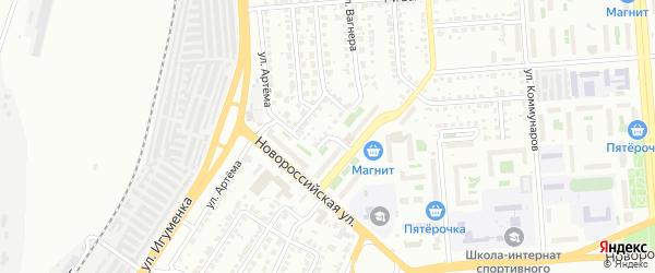 Светофорный переулок на карте Челябинска с номерами домов