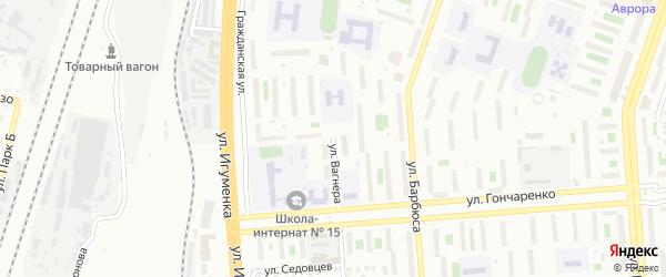 Улица Вагнера на карте Челябинска с номерами домов