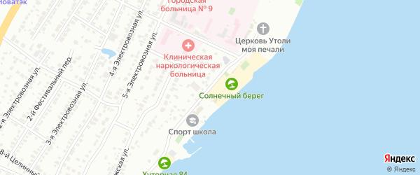 Хуторная улица на карте Челябинска с номерами домов